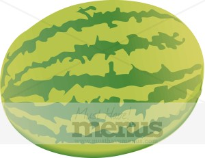 Whole Watermelon Clipart