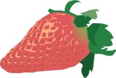 Red Strawberry Clipart