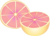 Ruby Grapefruit Clipart