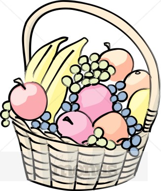 fruit gift basket clipart picnic clipart rh musthavemenus com gift basket clipart black and white gift basket clipart black and white