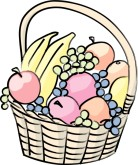 Fruit Gift Basket Clipart