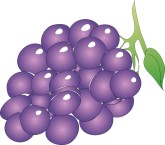 Organic Grapes Clipart