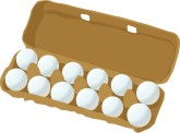 Carton of Eggs Clipart