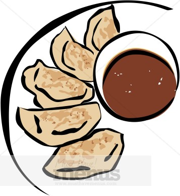 Pot Stickers Clipart | Chinese Restaurant Clipart