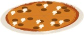 Thin Crust Pizza Clipart
