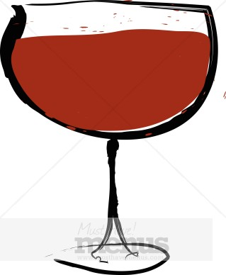 Red Wine Glass Clipart