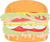 Juicy Burger Clipart