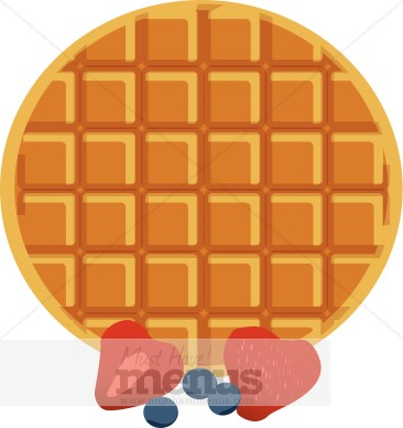 Waffle With Berries Clipart Breakfast Clipart