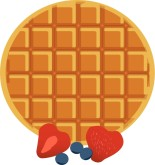 Waffle with Berries Clipart