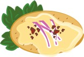 Plate of Appetizers Clipart