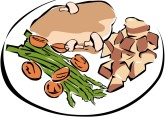 Healthy Dinner Clipart