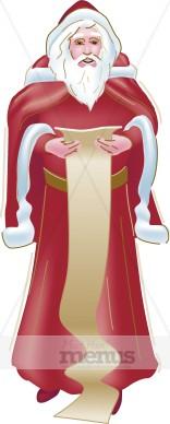 Santas List Clipart | Holiday Clipart Archive