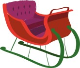 Red Sleigh Clipart