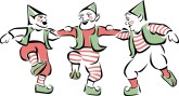 Christmas Elves Clipart