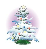 Frosted Tree Clipart