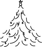Christmas Tree Drawing Clipart