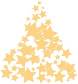 Gold Star Tree Clipart