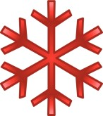 Red Snowflake Clipart