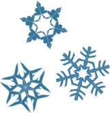 Three Snowflakes Clipart