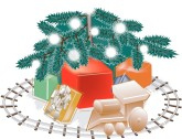 Christmas Toy Train Clipart