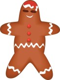 Christmas Gingerbread Cookie Clipart
