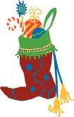 Candy Stocking Clipart