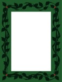 Green Ivy and Vines Menu Frame