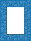 Snowflake Overlay on Blue Frame
