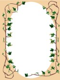 Ivy Vines with Oval Menu Frame
