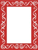 Red Frame with Gray Swirls