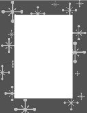 Gray Frame with Star Symbols