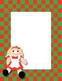 Christmas Checkerboard Blank Menu Frame