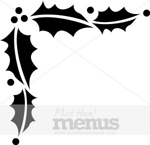 Black And White Holly Trim