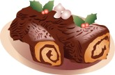 Yule Log Clipart
