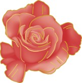 Red Rose Clipart for Menu