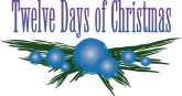 Twelve Days of Christmas Wording with Bulbs and Boughs