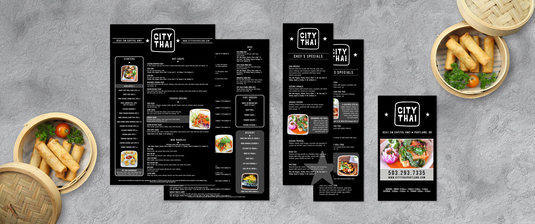 Graphic Design for Chinese menus