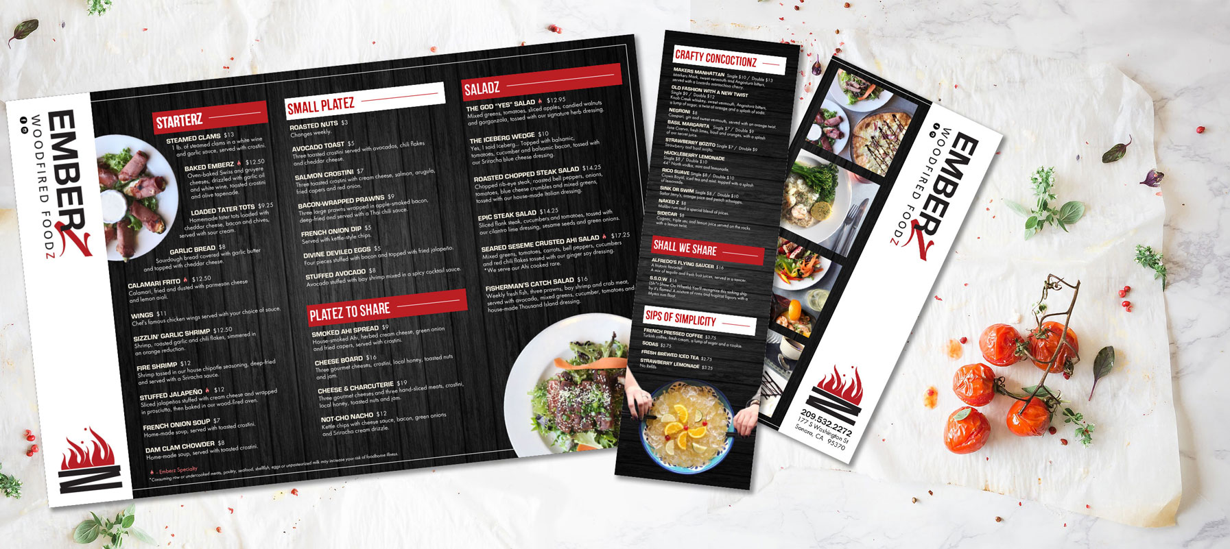 Graphic Design for takeout menus