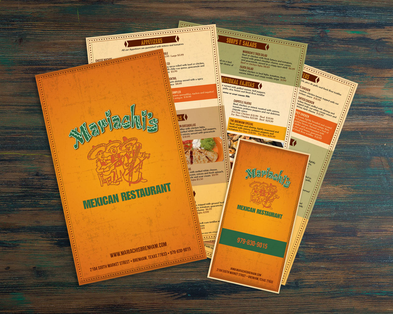 Graphic Design for dine-in and takeout Mexican menus