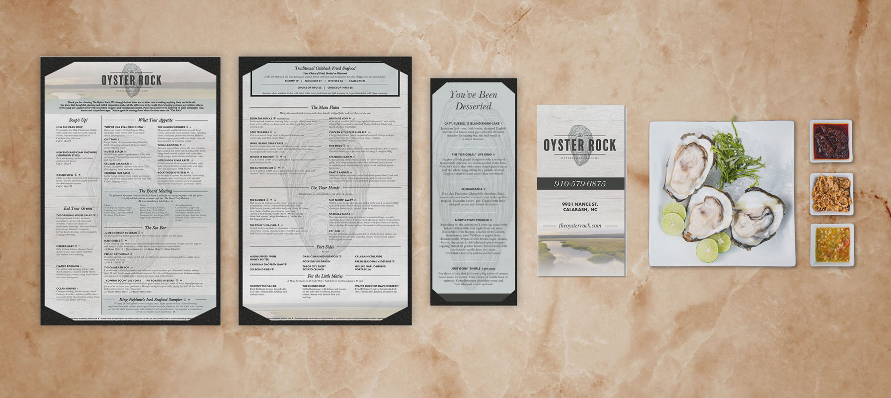 Graphic Design for dine-in and takeout menus