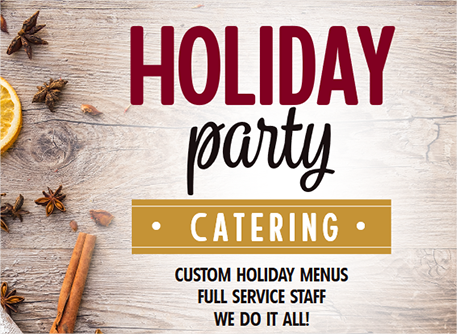 Holiday Party Catering Flyer
