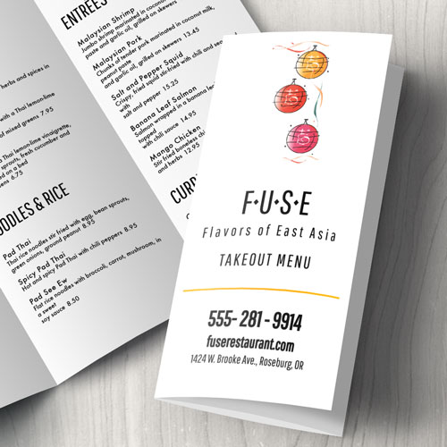 Asian Fusion Takeout Menu