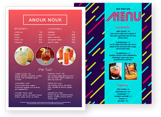 Design Bar Menus