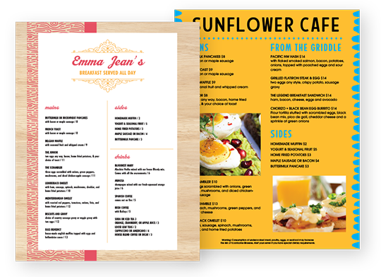 Design Breakfast Menus