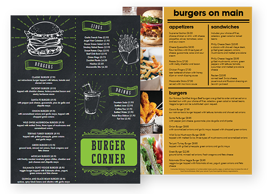 Design Burger Menus