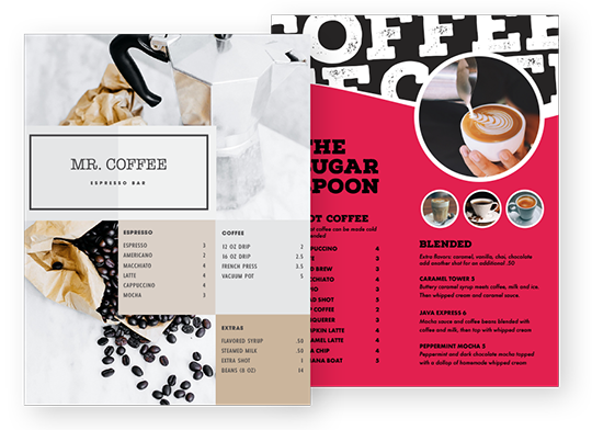 Design Coffee Menus