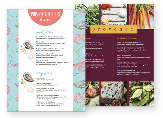 Design French Menus