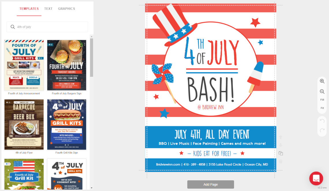 Design Fourth of July Flyers