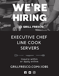 Now Hiring Flyer