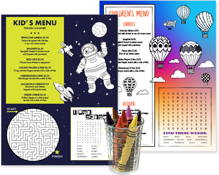 Design Kids Menus